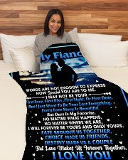 "FE004 Large Fleece Blanket - 60"" x 80"" aos-coral-fleece-blanket-60x80-lifestyle-front-05"