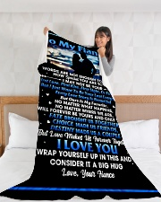 "FE004 Large Fleece Blanket - 60"" x 80"" aos-coral-fleece-blanket-60x80-lifestyle-front-11"