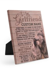 CV - GF0004 - GIFT FOR GIRLFRIEND 8x10 Easel-Back Gallery Wrapped Canvas front