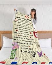 "DD027 Large Fleece Blanket - 60"" x 80"" aos-coral-fleece-blanket-60x80-lifestyle-front-11"