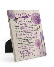CV - DD0002 - GIFT FOR DAUGHTER FROM DAD 8x10 Easel-Back Gallery Wrapped Canvas front