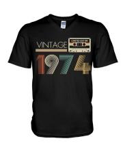 Vintage 1974 V-Neck T-Shirt tile