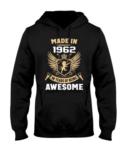 Made In 1962 58 Years Of Being Awesome