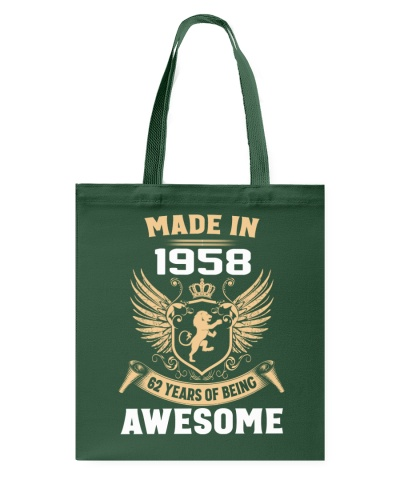 Made In 1958 62 Years Of Being Awesome