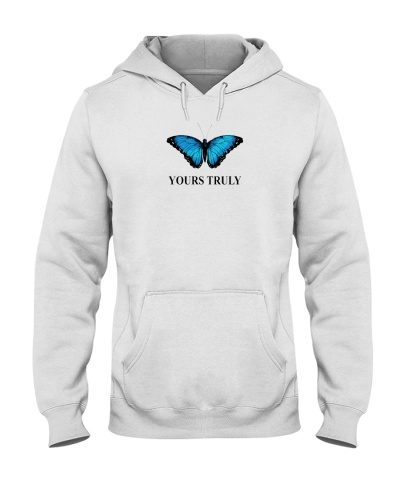 Yours truly butterfly hoodie
