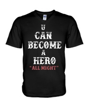 U can become a hero all might-- Limited Edition V-Neck T-Shirt thumbnail