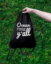 Ocean time Y'all t-shirt Limited Edition Drawstring Bag lifestyle-drawstringbag-front-3