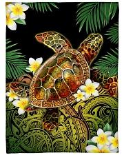 "I love turtles Large Fleece Blanket - 60"" x 80"" front"