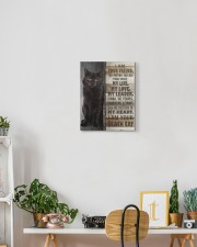 Black cat - I am your friend 11x14 Gallery Wrapped Canvas Prints aos-canvas-pgw-11x14-lifestyle-front-03
