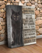 Black cat - I am your friend 11x14 Gallery Wrapped Canvas Prints aos-canvas-pgw-11x14-lifestyle-front-18