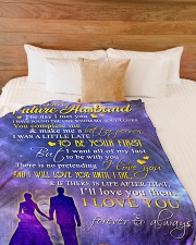 """To my future husband - I love you forever Large Fleece Blanket - 60"""" x 80"""" aos-coral-fleece-blanket-60x80-lifestyle-front-02"""