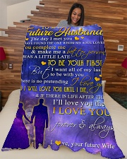 """To my future husband - I love you forever Large Fleece Blanket - 60"""" x 80"""" aos-coral-fleece-blanket-60x80-lifestyle-front-04"""