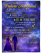 """To my future husband - I love you forever Large Fleece Blanket - 60"""" x 80"""" front"""