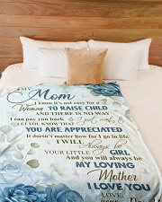 """To my loving mom - I will always be your girl Large Fleece Blanket - 60"""" x 80"""" aos-coral-fleece-blanket-60x80-lifestyle-front-02"""