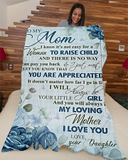 """To my loving mom - I will always be your girl Large Fleece Blanket - 60"""" x 80"""" aos-coral-fleece-blanket-60x80-lifestyle-front-04"""