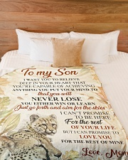 """To my son - I'll love you for the rest of mine Large Fleece Blanket - 60"""" x 80"""" aos-coral-fleece-blanket-60x80-lifestyle-front-02"""