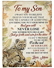 """To my son - I'll love you for the rest of mine Large Fleece Blanket - 60"""" x 80"""" front"""