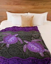 "Beautiful turtles Large Fleece Blanket - 60"" x 80"" aos-coral-fleece-blanket-60x80-lifestyle-front-02"