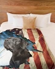 "Beautiful  Black Labrador Large Fleece Blanket - 60"" x 80"" aos-coral-fleece-blanket-60x80-lifestyle-front-02"