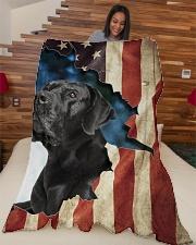 "Beautiful  Black Labrador Large Fleece Blanket - 60"" x 80"" aos-coral-fleece-blanket-60x80-lifestyle-front-04"