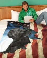 "Beautiful  Black Labrador Large Fleece Blanket - 60"" x 80"" aos-coral-fleece-blanket-60x80-lifestyle-front-06"