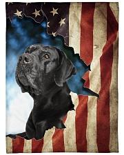 "Beautiful  Black Labrador Large Fleece Blanket - 60"" x 80"" front"