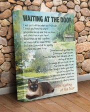 Siamese - Waiting at the door 11x14 Gallery Wrapped Canvas Prints aos-canvas-pgw-11x14-lifestyle-front-18