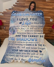 """To my granddaughter - Never forget that I love you Large Fleece Blanket - 60"""" x 80"""" aos-coral-fleece-blanket-60x80-lifestyle-front-04"""