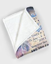 """To my granddaughter - Never forget that I love you Large Fleece Blanket - 60"""" x 80"""" aos-coral-fleece-blanket-60x80-lifestyle-front-08"""