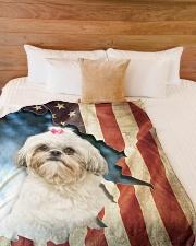 """Beautiful Shih Tzu Large Fleece Blanket - 60"""" x 80"""" aos-coral-fleece-blanket-60x80-lifestyle-front-02"""