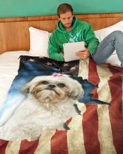 """Beautiful Shih Tzu Large Fleece Blanket - 60"""" x 80"""" aos-coral-fleece-blanket-60x80-lifestyle-front-06"""