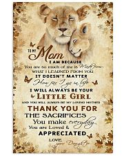To my mom - You will always be my loving mother 11x17 Poster front