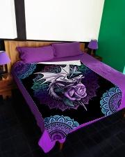 "I love dragons Large Fleece Blanket - 60"" x 80"" aos-coral-fleece-blanket-60x80-lifestyle-front-01"