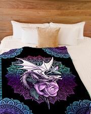 "I love dragons Large Fleece Blanket - 60"" x 80"" aos-coral-fleece-blanket-60x80-lifestyle-front-02"
