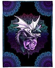 "I love dragons Large Fleece Blanket - 60"" x 80"" front"