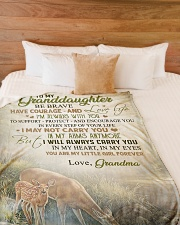 """My granddaughter - You're my little girl forever Large Fleece Blanket - 60"""" x 80"""" aos-coral-fleece-blanket-60x80-lifestyle-front-02"""