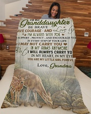 """My granddaughter - You're my little girl forever Large Fleece Blanket - 60"""" x 80"""" aos-coral-fleece-blanket-60x80-lifestyle-front-04"""