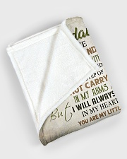 """My granddaughter - You're my little girl forever Large Fleece Blanket - 60"""" x 80"""" aos-coral-fleece-blanket-60x80-lifestyle-front-08"""