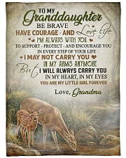 """My granddaughter - You're my little girl forever Large Fleece Blanket - 60"""" x 80"""" front"""