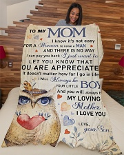 """To my mom - You will always be my loving mother Large Fleece Blanket - 60"""" x 80"""" aos-coral-fleece-blanket-60x80-lifestyle-front-04"""