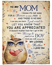 """To my mom - You will always be my loving mother Large Fleece Blanket - 60"""" x 80"""" front"""