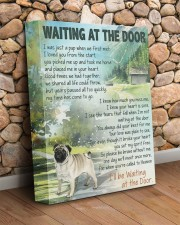 Pug - Waiting at the door 11x14 Gallery Wrapped Canvas Prints aos-canvas-pgw-11x14-lifestyle-front-18