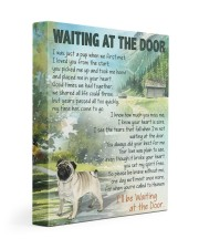 Pug - Waiting at the door 11x14 Gallery Wrapped Canvas Prints front