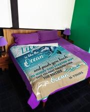 "The ocean is yours Large Fleece Blanket - 60"" x 80"" aos-coral-fleece-blanket-60x80-lifestyle-front-01"