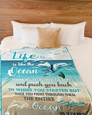 "The ocean is yours Large Fleece Blanket - 60"" x 80"" aos-coral-fleece-blanket-60x80-lifestyle-front-02"