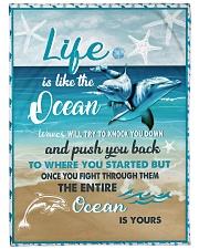 """The ocean is yours Large Fleece Blanket - 60"""" x 80"""" front"""