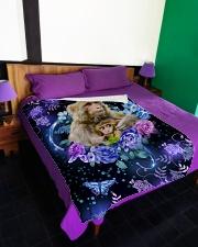 """I love monkeys Large Fleece Blanket - 60"""" x 80"""" aos-coral-fleece-blanket-60x80-lifestyle-front-01"""