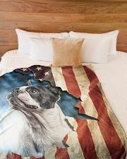 "Beautiful Boston terrier Large Fleece Blanket - 60"" x 80"" aos-coral-fleece-blanket-60x80-lifestyle-front-02"