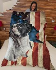 "Beautiful Boston terrier Large Fleece Blanket - 60"" x 80"" aos-coral-fleece-blanket-60x80-lifestyle-front-04"