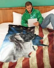 "Beautiful Boston terrier Large Fleece Blanket - 60"" x 80"" aos-coral-fleece-blanket-60x80-lifestyle-front-06"